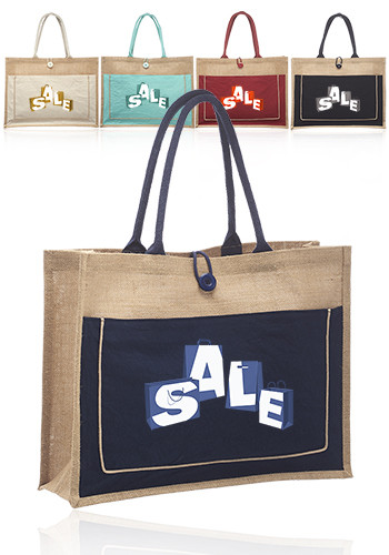 Jute Bags with Pocket