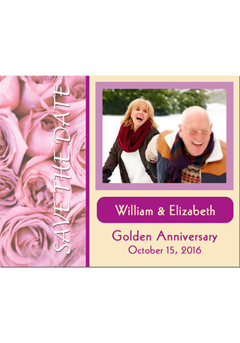 Couple and Roses Save the Date Magnets | MGS217R