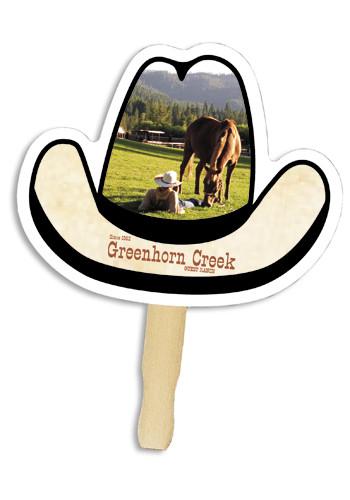 Cowboy Hat Shape Hand Fans | AK8033017