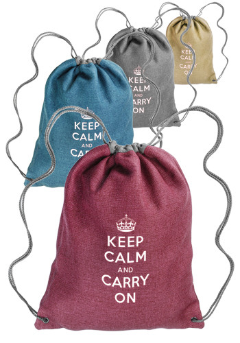 Linen Drawstring Backpacks