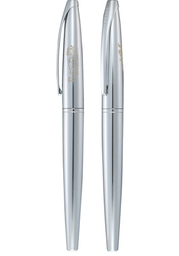 Cross ATX Pure Chrome Roller Ball Pens | LE276719