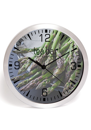 10 inch Brushed Metal Wall Clocks with Glass Lens | IV9511