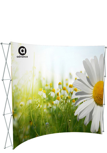 10 ft. Splash Curve Floor Banners with Face Graphic Kit | SHD341024
