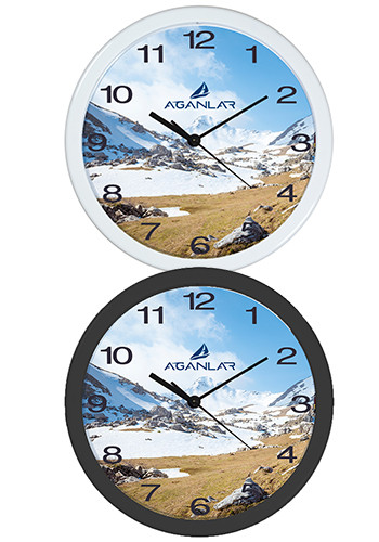 Custom 12 Plastic Economy Overs Wall Clocks