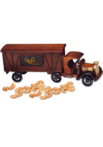 1920 Wooden Tractor-Trailer Truck with Extra Fancy Jumbo Cashews | MRTR2002