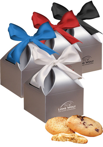 4.5 oz. Fresh Baked Cookies in Silver Gift Box | MRSCT133