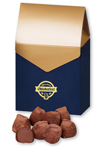 Cocoa Dusted Truffles in Gable Top Box | MRGGB143