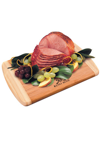Bamboo Cutting Boards with Honey Cured Spiral-Sliced Boneless Ham | MRBB752