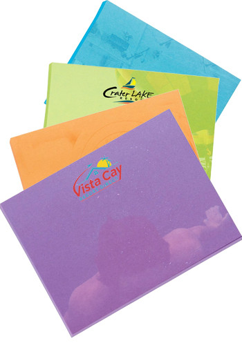BIC 4H x 3H in. Adhesive Colored Paper Notepads 25 Sheet | BGCP4A3A25