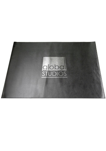 Promotional Black Faux Leather Desk Mats