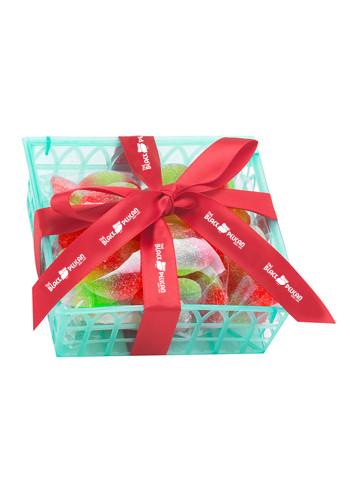 Custom Candy Fruit Baskets with Gummy Apple Fillings