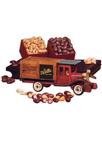 Classic 1925 Wooden Stake Truck with Chocolate Covered Almonds & Jumbo Cashews | MRTR120