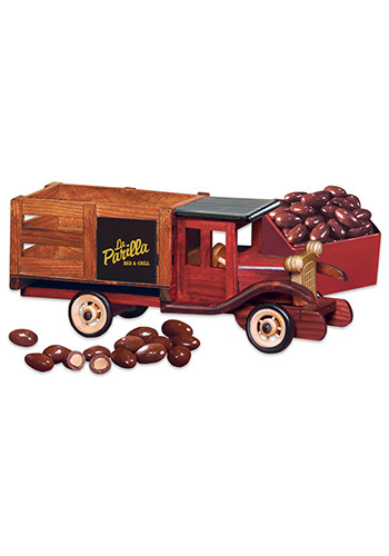 Classic 1925 Wooden Stake Truck with Milk Chocolate Covered Almonds | MRTR124
