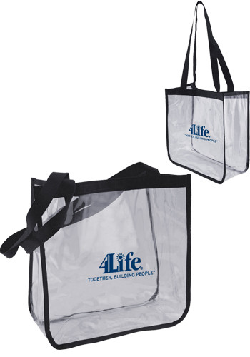 Clear Security Tote Bags | PS7CLT1212BLK