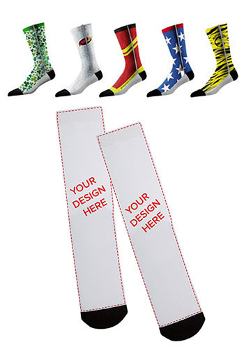 Custom Design Full Sublimated Crew Socks (Pair) | SL3CRWFULLSUB