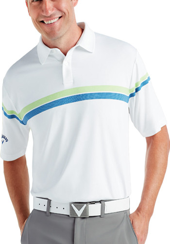 Callaway Men's Patterned Stripe Performance Polo Shirts | CGM590