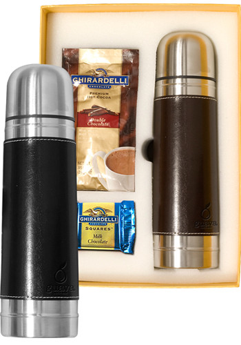 Customized Empire Thermos & Ghirardelli Deluxe Gift Sets