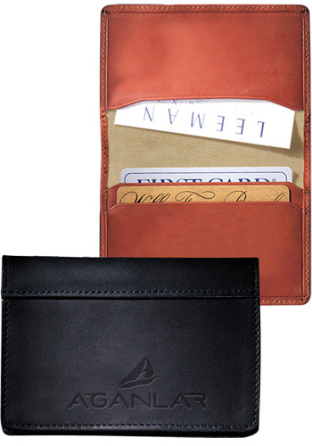 Fire Island Sueded Full-Grain Leather Business Card Cases | PLLG9004