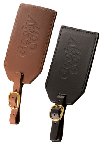 Grand Central Sueded Full-Grain Leather Luggage Tags | PLLG9094