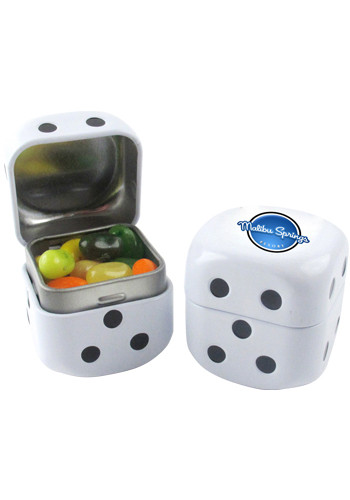 Custom Jelly Belly® Jelly Beans Roll The Dice Tin