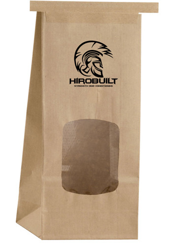 Window Kraft Paper Coffee Bags | PS1CFBW409NAT