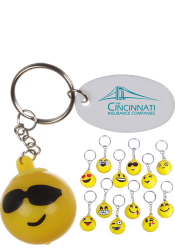 Light Up Emoji Keychains