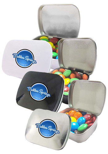 M&Ms in a Domed Tin | CI300MNM