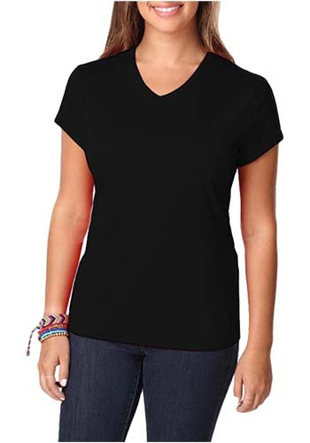 Blue Generation Ladies Moisture Wicking V-Neck T-shirts | BGEN6302
