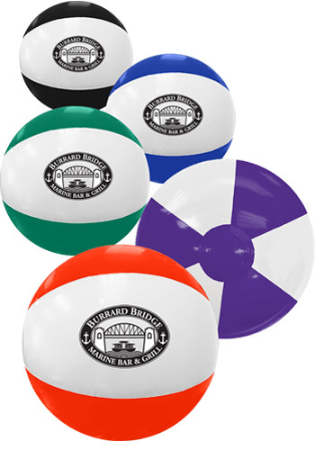 Custom 16 in. Two-Toned Inflatable Beach Balls