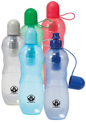Customized 22 oz Bobble Sport Bottles with Tether Cap