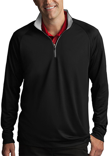 Play Dry Men's Zip Performance Mock Pullovers | GNS2K997