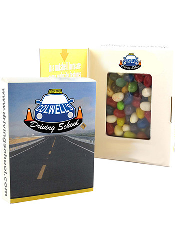 Black Book Window Box with Gourmet Jelly Beans | CIBWBGJEL