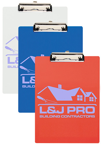 Bulk Letter Size Clipboards with Metal Spring Clip