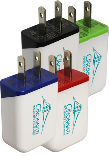 Custom Printed Single Port Wall Chargers