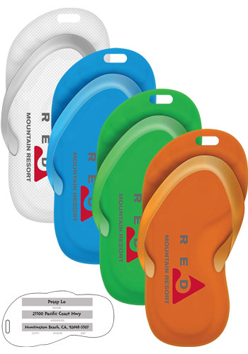 Recycled Sandal Shaped Luggage Tags | IVWSST10