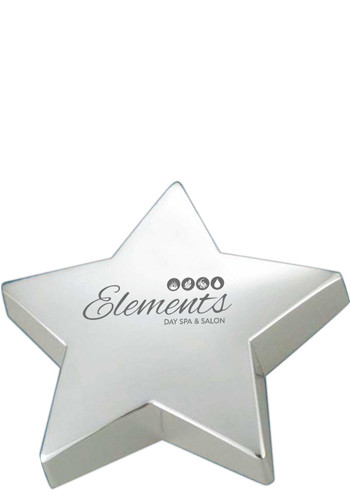 Silver Star Paperweights | NOI60320S