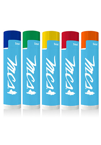 Personalized SPF 15 White Tube with Colored Cap Lip Balms