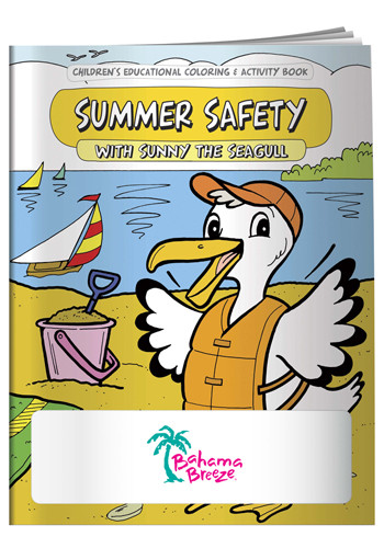 wholesale coloring books summer safety