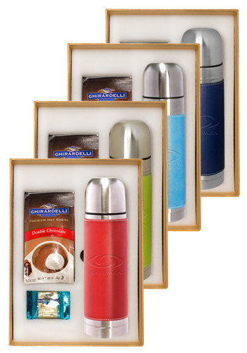 Custom Tuscany™ Stainless Steel Thermos & Ghirardelli Deluxe Gift Set