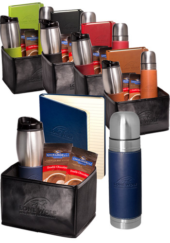 Tuscany™ Stainless Steel Thermos, Tumbler, Journal and Ghirardelli Gift Set |PLLG9326