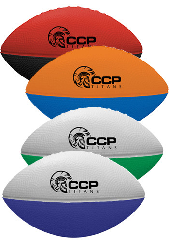 Custom Two-Toned Foam Footballs