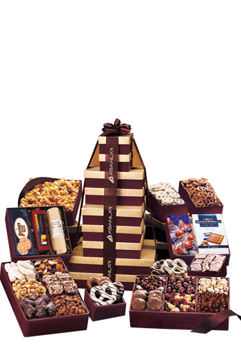 Ultimate Office Party Tower in Burgundy Gift Boxes | MRBG1537
