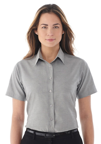 #LETM97733 Custom Women's Lambert Oxford Short Sleeve Shirts