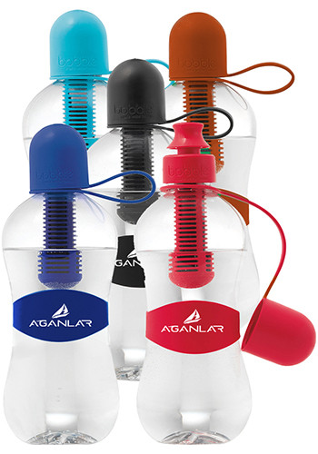18.5 oz. Bobble Water Bottles with Tether Cap | GL50600