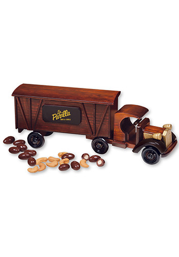 1920 Wooden Tractor-Trailer Truck with Chocolate Covered Almonds & Jumbo Cashews | MRTR2020