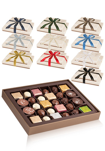 Bulk Assorted Belgian Chocolates in Gift Box Towers