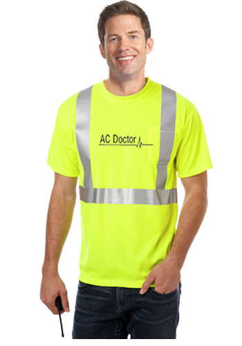 Blue Generation Adult Hi-Visibility Tees w/ Reflective Stripe | BGEN7511