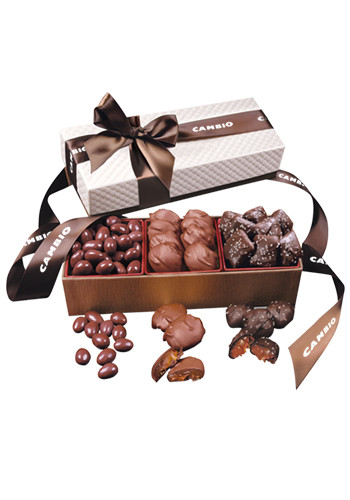 Chocolate Bliss in White Pillow-Top Gift Box | MRWBR3004