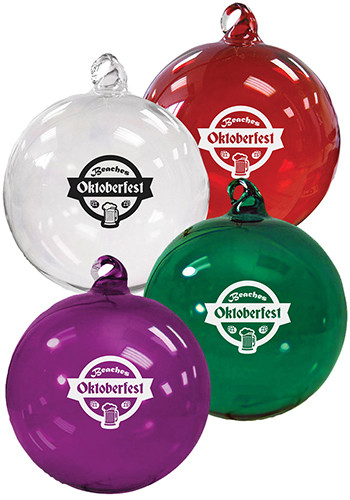 Personalized Hand Blown Glass Ornaments