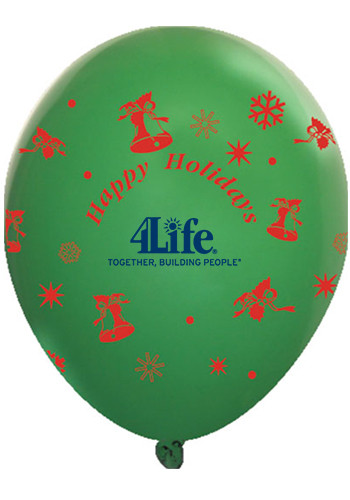 Wholesale Happy Holliday Wrap Latex Balloons